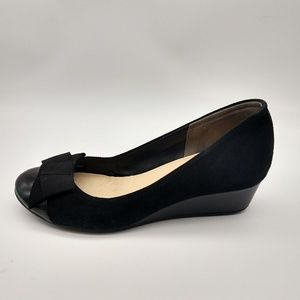 Black Cole Haan Nike Air Suede/Patent Wedges